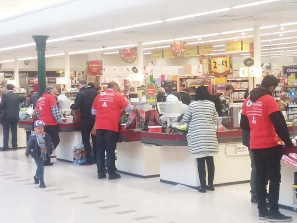 Morrisons Store Blackburn Campaign Raising Funds Charity Packing
