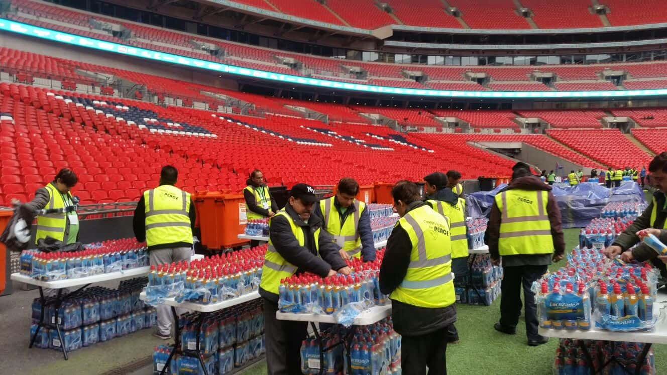 Volunteer Work Done by AMEA Fazal Region on 12 March 2017 in Wembley Stadium